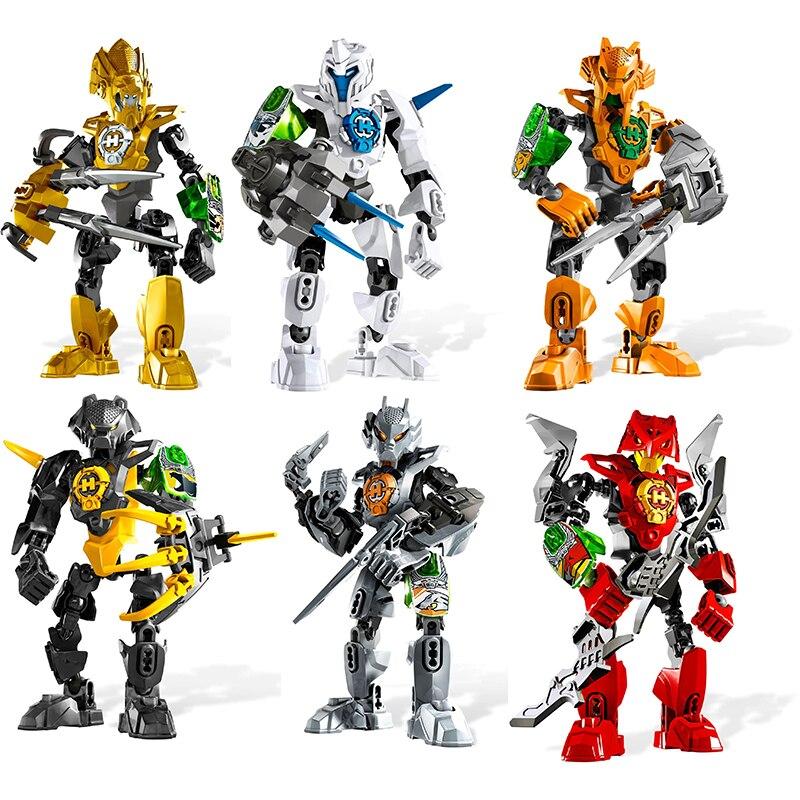 DECOOL Hero Factory роботы солдаты Bionicle экшн-фигурки модель строительные блоки кирпичи игрушки для детей подарок Прямая поставка