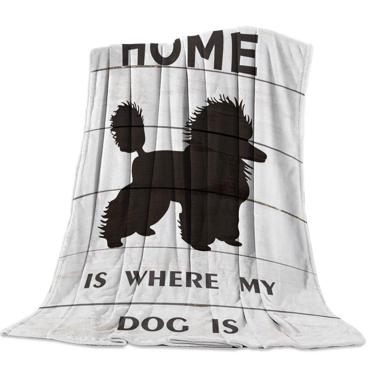 Пудель на доске, дом, где моя собака коралловый флис пушистые одеяла на кровать кидает простыня для детей девочек