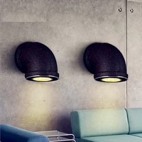 industrial wind led pipe light vintage pipe dining room wall lights bar cafe lamp free shipping