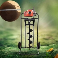 high power gasoline foot pedal drilling machine greenhouse fruit tree fertilization drilling pit planting machinery equipment