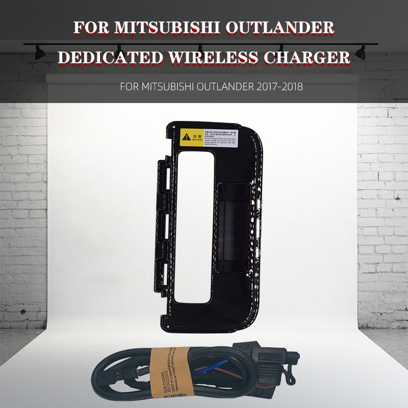 Get Car Wireless Charger For Mitsubishi OUTLANDER 2017-2018 Phone QI Wireless Charger For iPhone Fast Charge Mobile Phone Plate