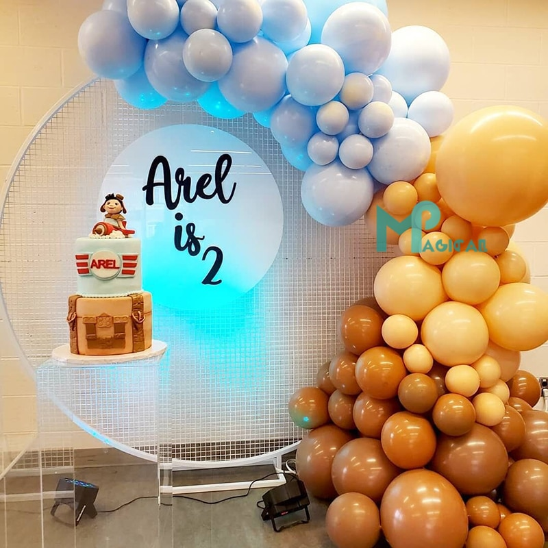 109pcs Maca Blue Balloons Garland Arch Kit Cream Peach Coffee Balloon Decoration For Wedding Birthday Baby Shower Party Supplies Ballons Accessories Aliexpress