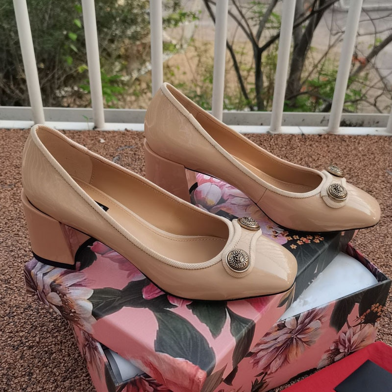 عالية الجودة مكتب أحذية النساء مثير عالية الكعب مضخات العلامة التجارية موضة جلد طبيعي ساحة تو عالية الكعب