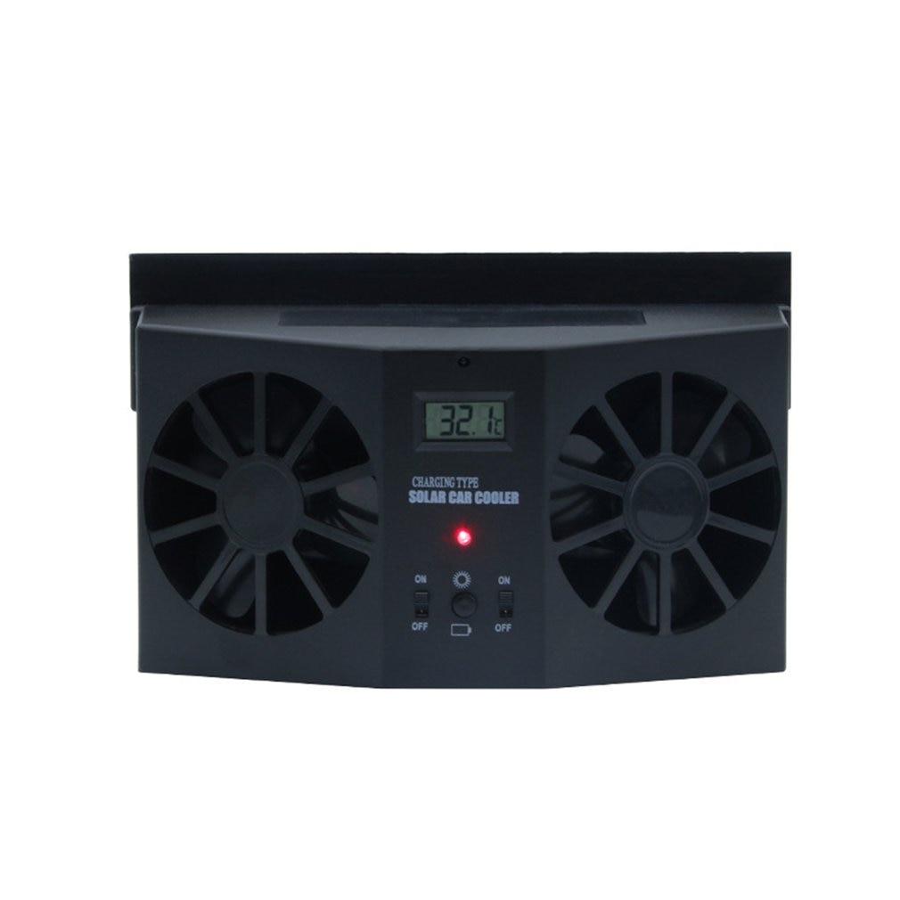 Artefacto de enfriamiento Solar para coche, ventilador de escape para coche, ventilador de escape portátil para circulación de aire, ventilador de ventilación para coche