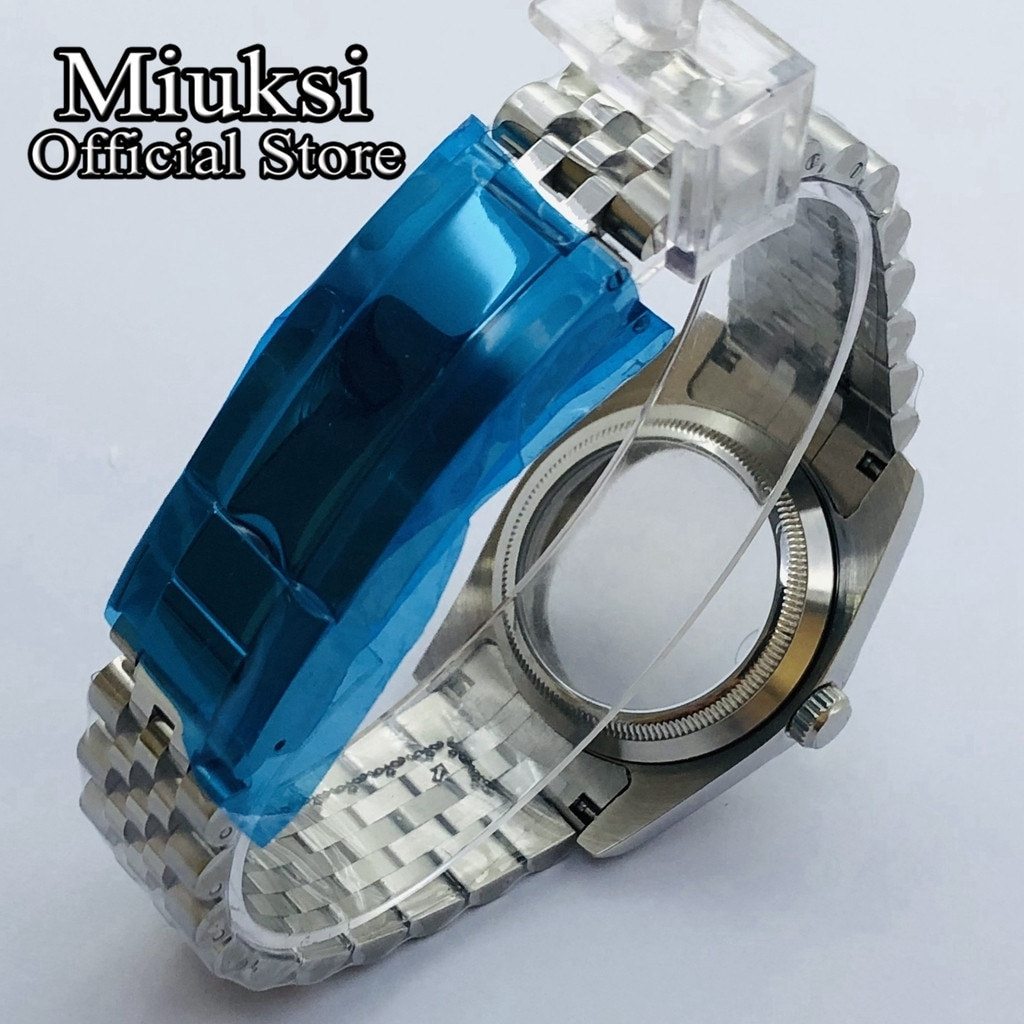 Miuksi 36mm/39mm polishing case sapphire glass jubilee bracelet fit NH35 NH36 ETA2836 Mingzhu DG2813 3804 Miyota 8205 8215 821A enlarge