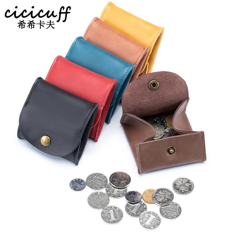 2020 Coin Purse Leather Hasp Small Wallets Soft Split Men Purses Mini Storage Pocket Bag For Women &