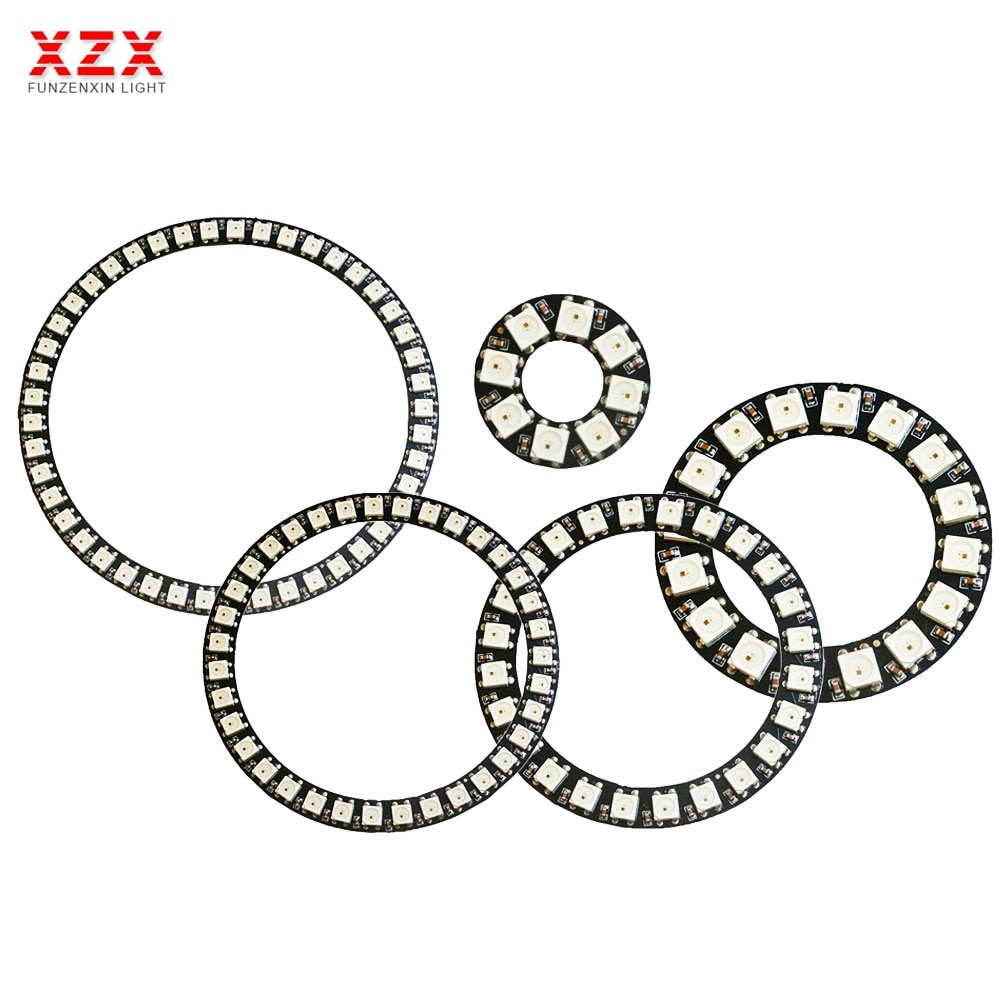 8/16/24/35/45 Leds WS2812B Pixel Ring Addressable Led Modules DC5V WS2812 RGB full color Round Led C