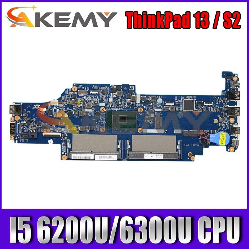 For ThinkPad 13 / S2 laptop motherboard DA0PS8MB8G0 has CPU I5 6200U / 6300U FRU 01AY556 01AY557 01AY547 01AY54 Mainboard