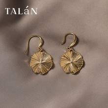 Metal Retro Hong Kong Style Earrings for Women European and American Hipsters Fashion Flower round M