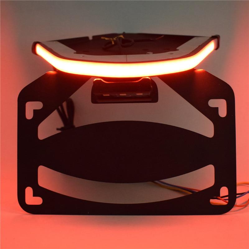 Waase-حامل لوحة ترخيص الدراجة النارية ، الإطار الخلفي ، إشارات الفرامل والانعطاف ، LED مدمج ، لسيارات BMW S1000RR S1000 RR 2019 2020