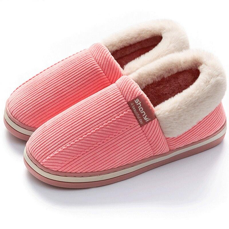 Мужские тапочки домашняя обувь из синтетического хлопка зимние тапочки для мужчин в клетку мужские Тапочки плюшевая резиновая домашняя об...