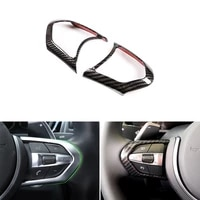 car styling carbon texture steering wheel panel switch button cover trim for bmw 1 3 4 5 6 series f30 f10 x5 x6 f15 f16 m sport