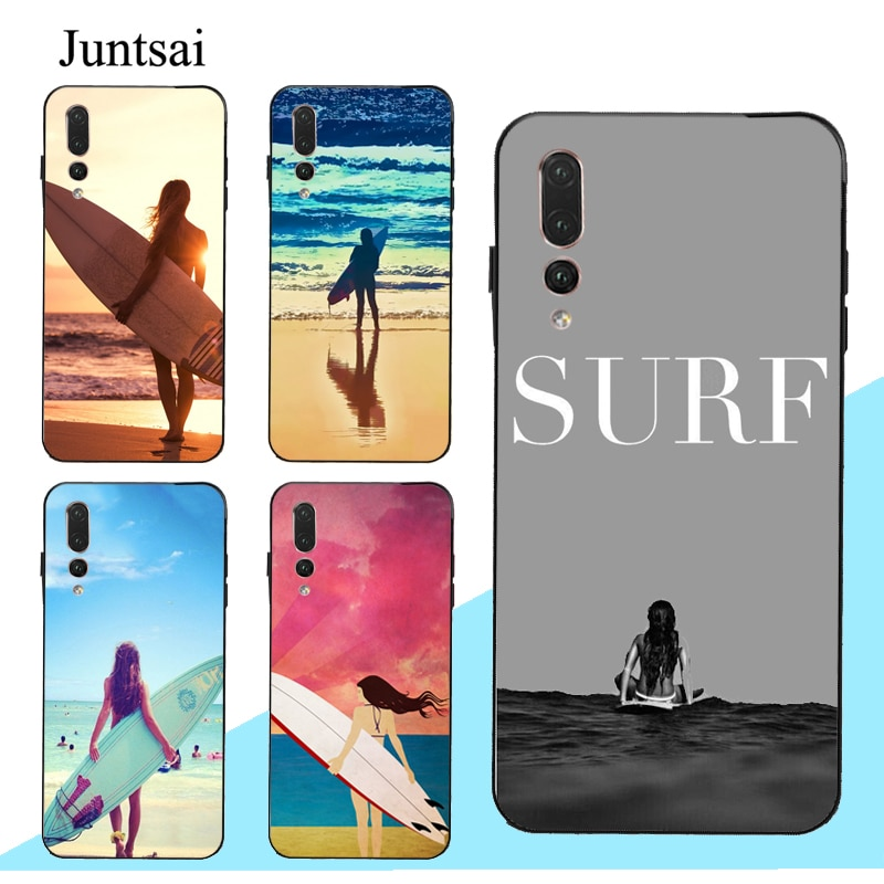 Funda de SURF para Huawei Mate 10, 20, 30 Lite, P10, P20, P30, P40 Pro, Smart 2019 Z, HAWAII