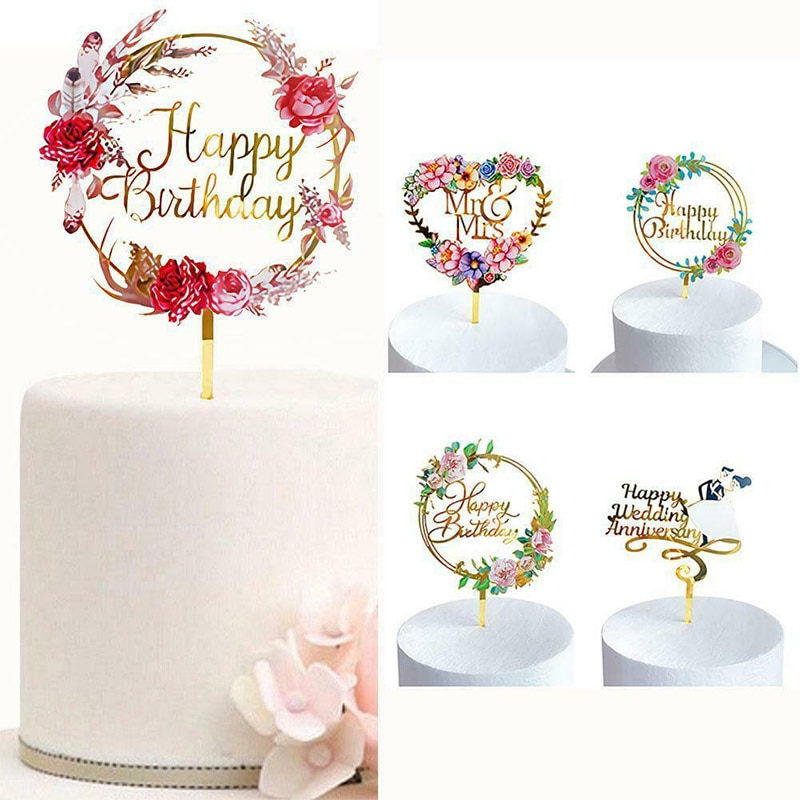 Необычный акриловый Топпер для торта, счастливая фотографивечерние детской вечеринки, Топпер для кексов, детские подарки и сувениры, украш...