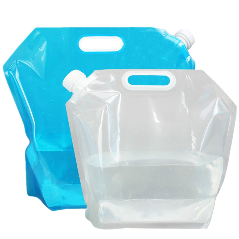 Folding Plastic Water Carrier Outdoor Portable Bag Bucket Large Capacity Portable Camping Mountaineering Folding Water Bags