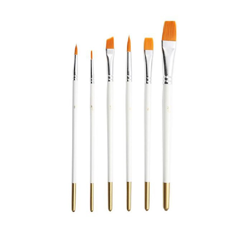 6Pcs Pinsel Set Künstler Pinsel Pinsel für Acryl Öl Aquarell Stift Professionelle Kinder Kunst Handwerk Liefert
