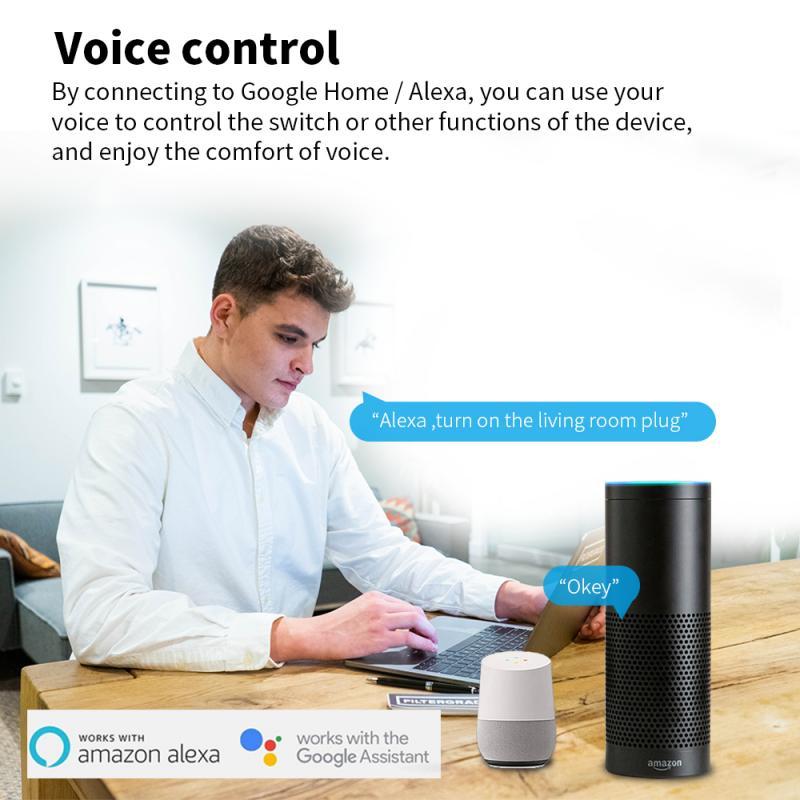 Tuya WiFi EU Smart Plug 10A Wireless Remote Voice Control Power Monitor Timer Socket For Google Home Alexa ZigBee Gateway
