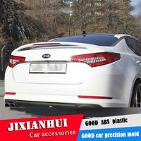 For Optima Spoiler 2011-2013 Kia Optima K5 Spoiler DJLD ABS plastic Material Car Rear Wing Color Rear Spoiler