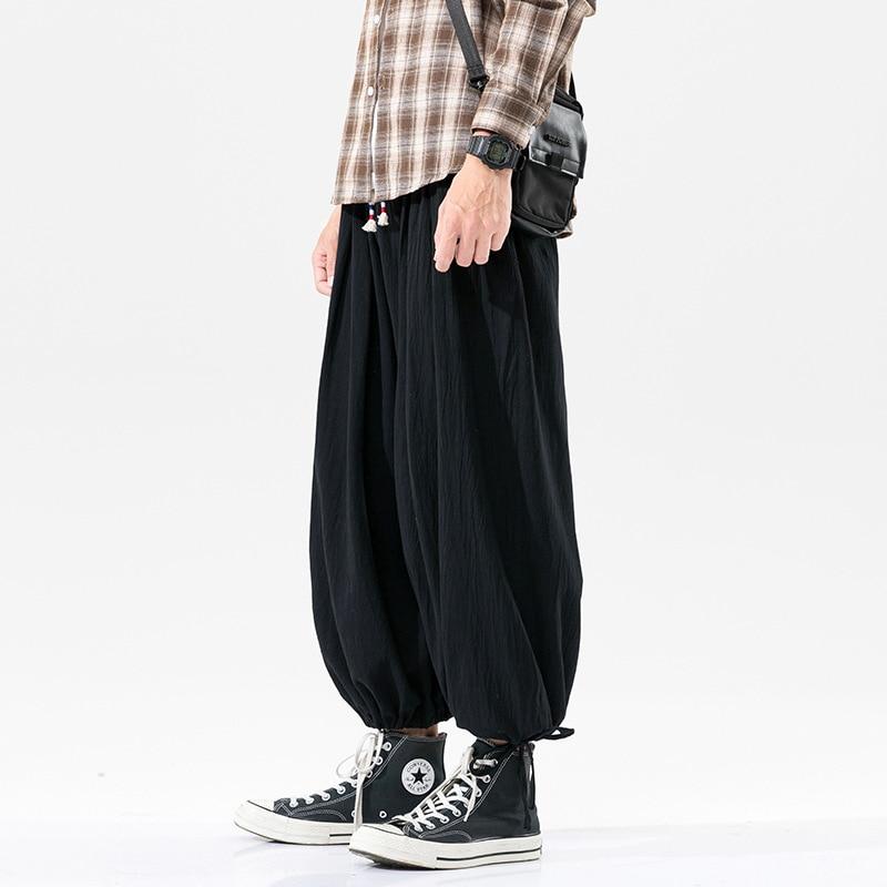 Мужские брюки, мужские повседневные брюки, летние мужские брюки, удобные льняные спортивные штаны, однотонные дышащие прямые брюки