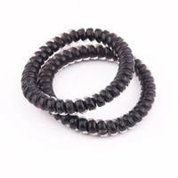 lot 4pcs transperant black telephone cord women headwear elastic rubber bands girls gum ponytail holders hair accessories