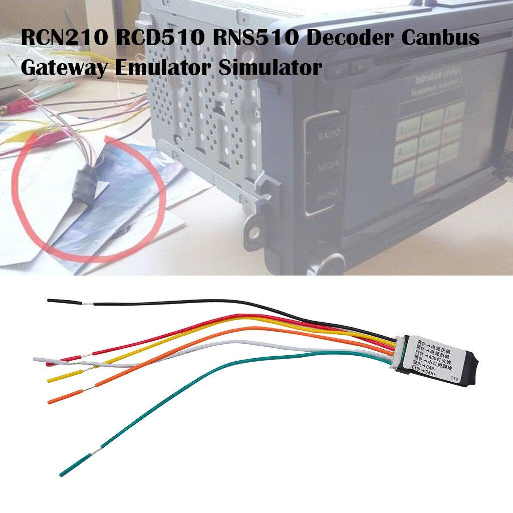 100% nuevo negro 1 Uds RCN210 RCD510 RNS510 decodificador PORTAL DE Canbus emulador simulador estable características Canbus simulador # LR1