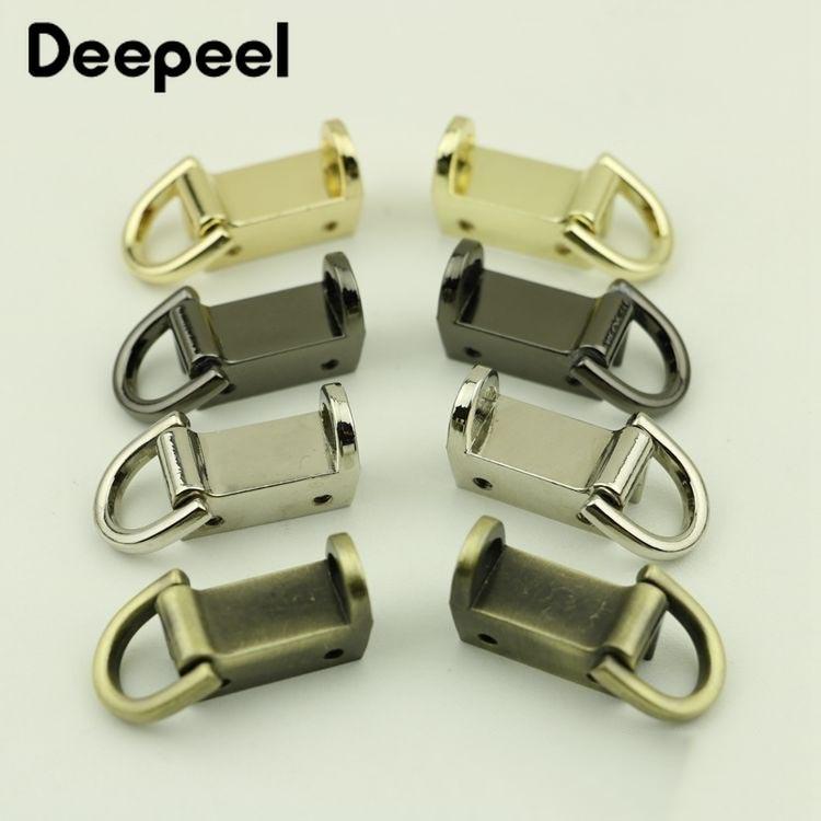 Deepeel 37mm Bag Side Clip Metal Buckles Screw Handbag Strap Handles Connector Clasp Hooks Bag Hanger DIY Leather Craft BF178