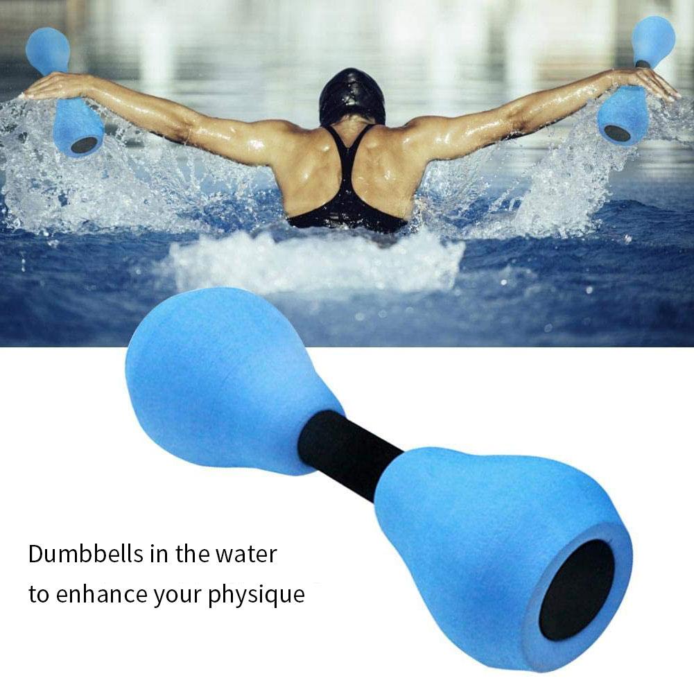 Weights Dumbbells Set Water Aquatic Dumbbells Water Aerobics Equipment Exercise Foam Dumbbell 1Pair