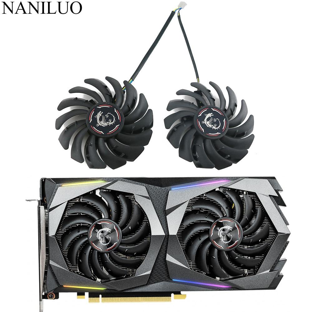 Вентилятор для охлаждения видеокарты MSI GeForce GTX 1650 Super 1660 1660Ti, 2 шт./лот, PLD09210S12HH
