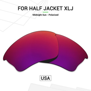 Mryok POLARIZED Replacement Lenses (from USA) for Oakley Half Jacket XLJ Sunglasses Midnight Sun