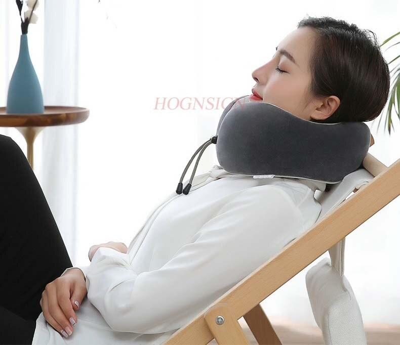 Nueva almohada de masaje eléctrico en forma de U almohada de cuello en forma de U cuello cervical Almohada de Viaje para el cuello almohada de cuello u de protección de aviones