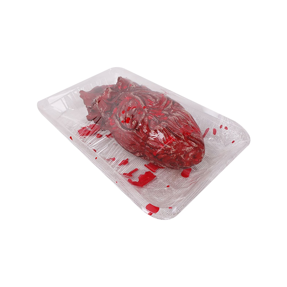 1PC Horror maldito falso cortada corazón con plato de Corazón Roto broma y truco de fiesta