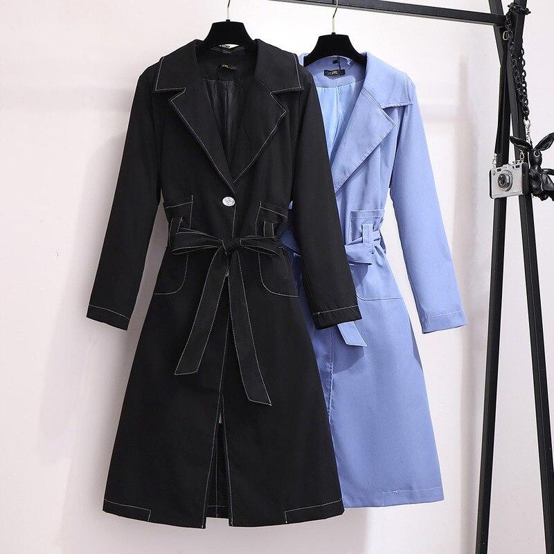 ملابس نسائية كبيرة الحجم للغاية ، خريف 2020 ، معطف ترفيهي نسائي مع طية صدر السترة ، يغطي الخصر ، تنحيف البطن