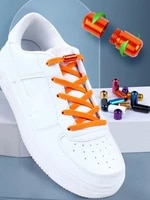2021 new elastic no tie shoe laces flat shoelaces for kids and adult sneakers shoelace quick lazy metal lock laces shoe strings