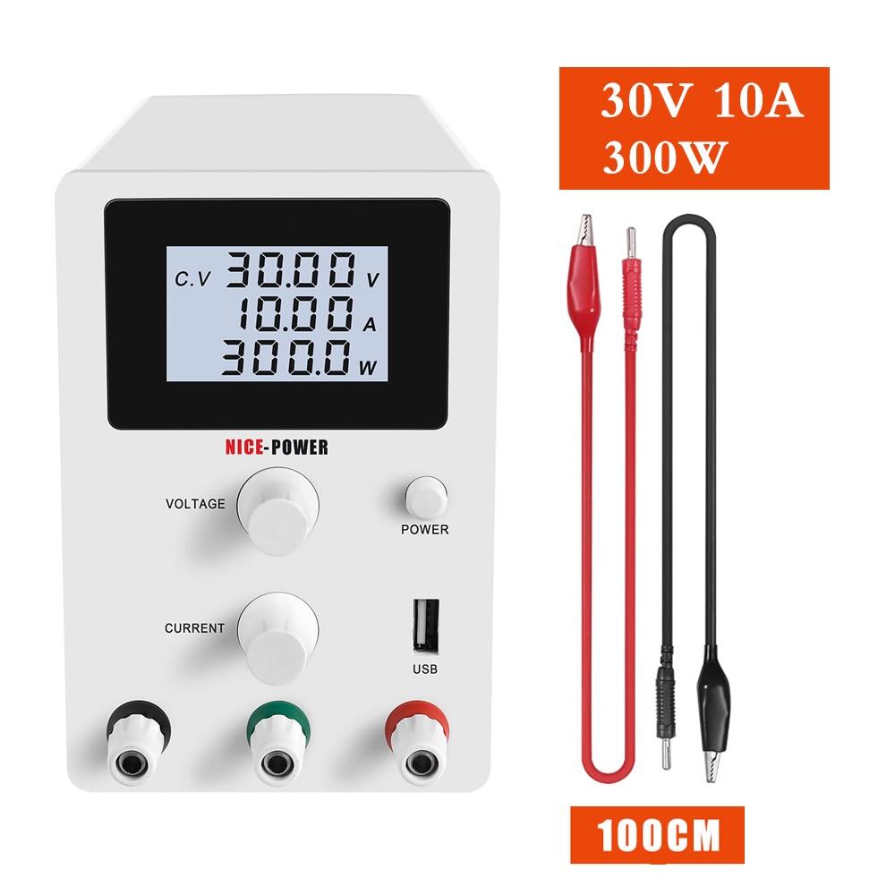 LCD USB تيار مستمر ينظم مختبر امدادات الطاقة قابل للتعديل 30 فولت 10A الجهد المنظم 60 فولت 5A استقرار التبديل مقعد مصدر الطاقة