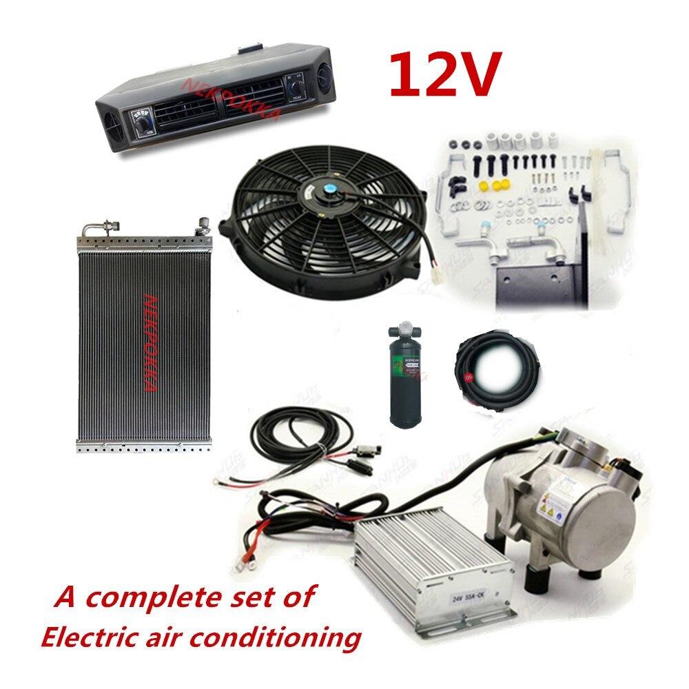 Автомобильный аккумулятор энергия кондиционер воздуха, Кондиционер без бензина, электрический кондиционер для экскаватора для