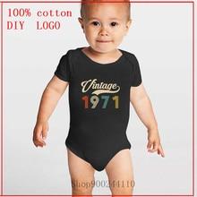 Designs Neugeborenen Vintage 1971 Retro Geboren in 1971 49th Geburtstag Perfekte Geschenk für Vater Vater BF Baby Body Sommer Jungen und Mädchen