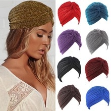 Unisex Turban Cap Muslim Hijab Twist Knot Wrap Head Hat Indian Hat Beautiful Fashion Comfort Bonnet