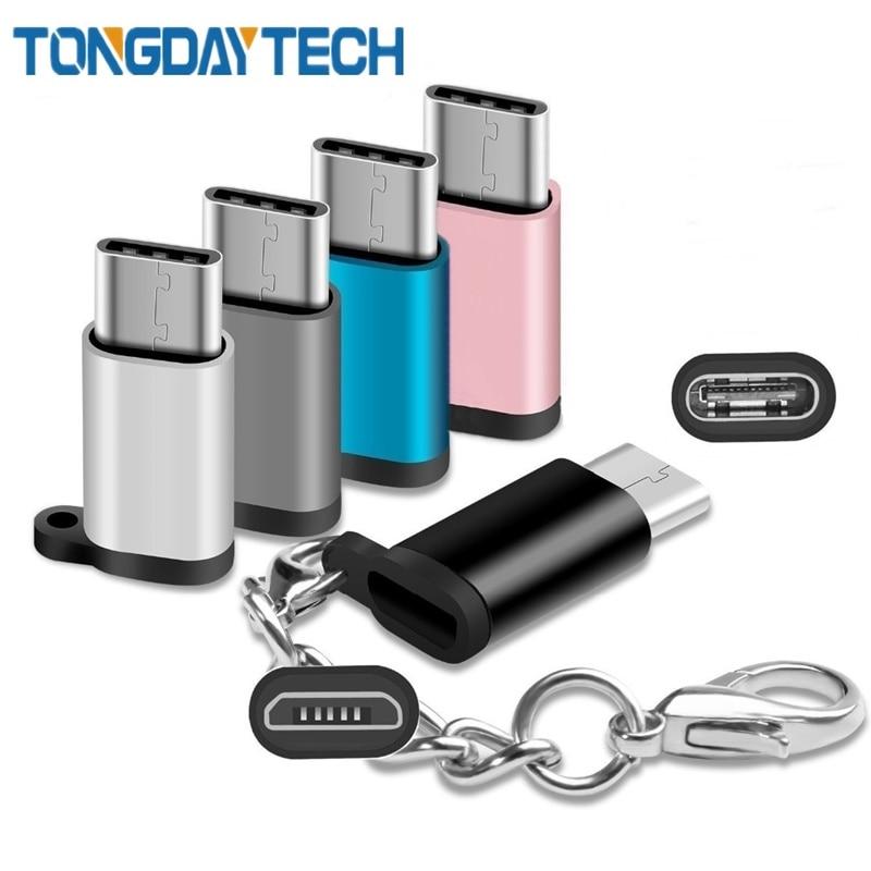 Tongdaytech USB tipo C USB 3,1 adaptador de OTG Micro USB hembra a tipo C macho Convertidor para Samsung S8 S10 LG G5 G6 Nexus 5X Pixel 2XL