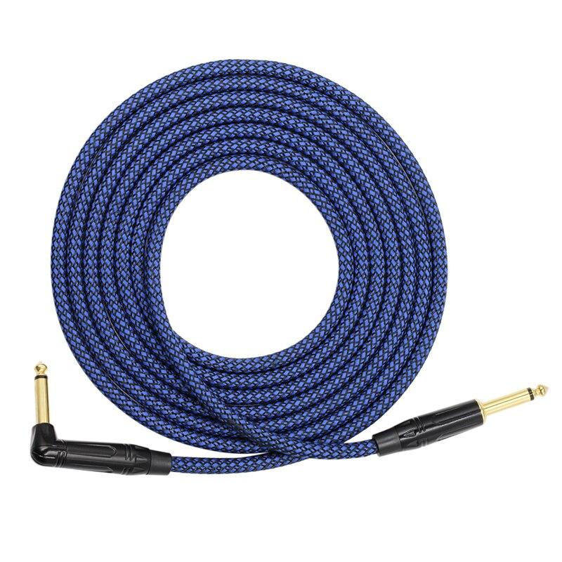 Cable de Audio para guitarra eléctrica 6,35, Mono Jack, guitarra eléctrica, bajo, instrumento Musical, Cable, altavoces, Cables Amplifie Blue
