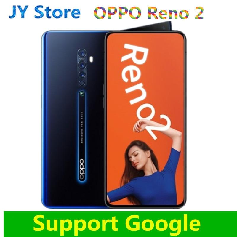 "Nova Oppo Reno 2 Telefone Celular Snapdragon 730 6.5 ""2400X1080 GB ROM 48 RAM128GB 8 + 13 + 8MP Câmeras 5 VOCC 3.0"