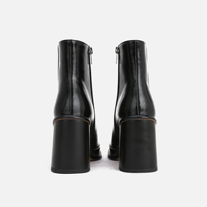 MUMANI Woman's Knee-High Boots 2021 New ANKLE Genuine leather ZIP Square Toe Square heel Modern Boots