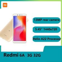 Redmi 6A 2GB 32GB Smartphone 5.45 plein écran AI Face déverrouillage double SIM 256GB stockage extensible Helio A22 processeur
