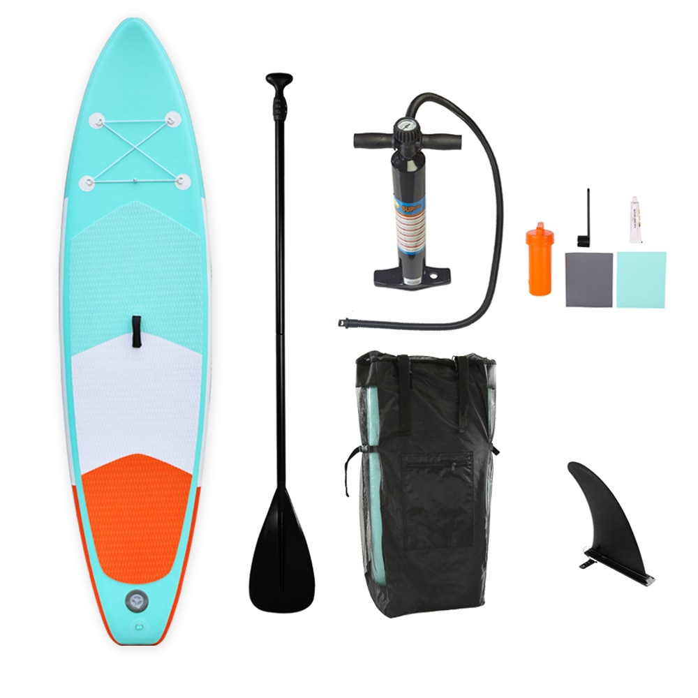 AddFun New Style Sky Blue 305cm Surfboard SUP Surf Board Adult PVC Water Ski Inflatable Paddle Board Stand Up PaddleBoard Suit