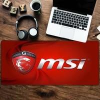 gaming large mousepad of gamers keyboard pad locking edge rubber otaku mouse pad office laptop desk mat msi logo