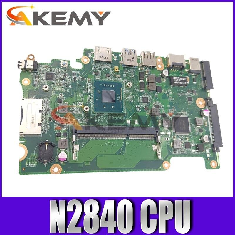 شحن مجاني ل أيسر أسباير E3-112 ES1-111 V3-112 اللوحة المحمول DA0ZHKMB6C0 مع SR1YJ N2840 CPU DDR3 العمل جيدا