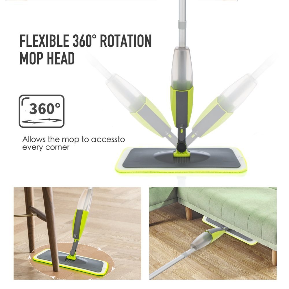 Spray Mop Broom Set Magic Mop Wooden Floor Flat Mops Home Cleaning Tool Household with Reusable Microfiber Pads Lazy Mop enlarge
