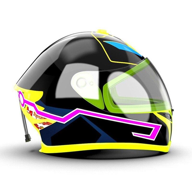 2 шт. водонепроницаемый шлем мотоциклетный свет жокейский сигнал EL полоса мигающий светодиод прочный набор бар Сделай Сам 3 режима