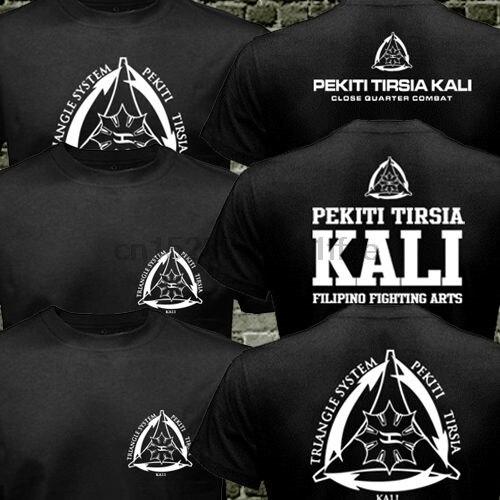 Camiseta de artes marciales de Pekiti Tirsia Kali, filipina del ejército Filipino, camiseta informal militar de dos lados para hombre, talla S-3XL de Estados Unidos