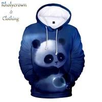 fashion new hoodies animal panda 3d sweatshirt men boy street wear hooded panda pullover lady girl hip hop design 3d jacket top