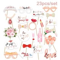 23pcs bride to be bride team shooting props wedding lady hen party bridal shower miss to mrs bachelor party supplies